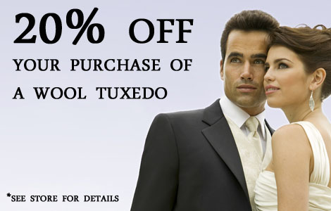 20% off tux purchase 18