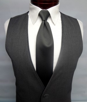 Charcoal Grey Twilight Vest by Jean Yves