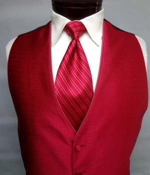 Tropical Red Sterling Vest by Jean Yves