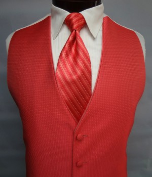 Salmon Sterling Vest by Jean Yves