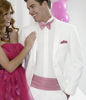 White Fitted Two Button Tuxedo