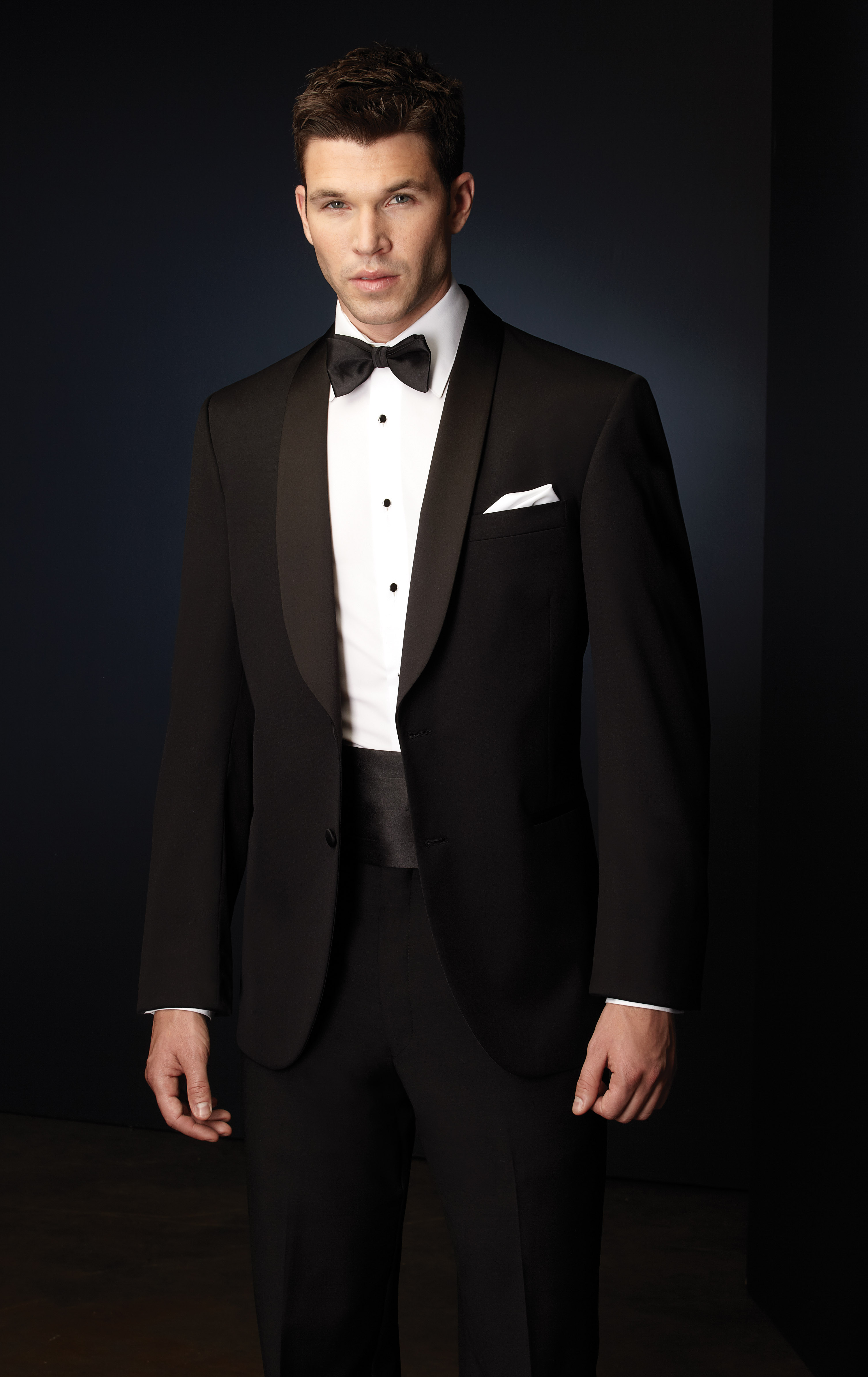 Two Button Shawl Tuxedo Formal Dimensions