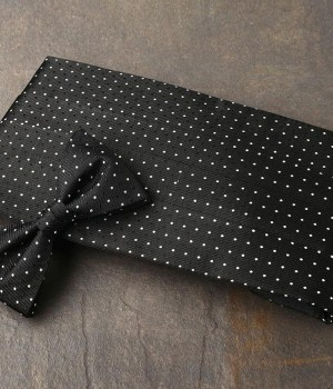 Black Dot Pattern Cummerbund & Bow Tie Set