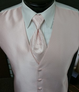 Pearl Pink Pin Dot Pattern Vest by Larr Brio